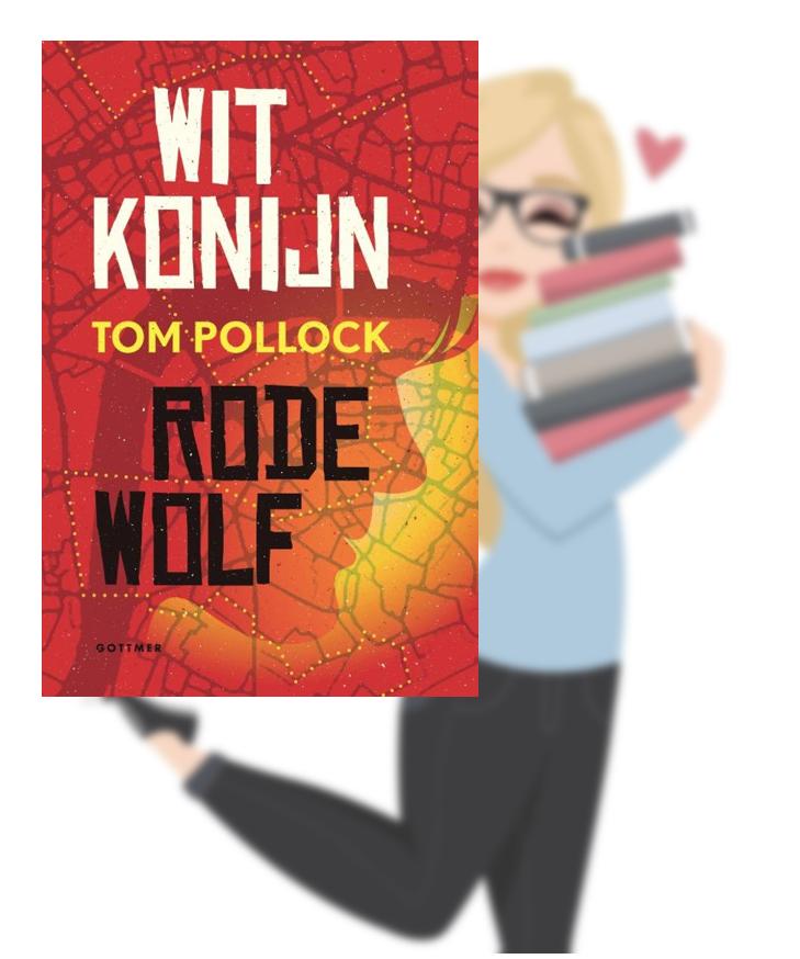 Wit konijn/Rode Wolf – Tom Pollock(Marloes)
