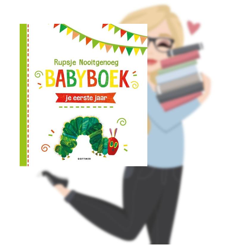 Rupsje nooitgenoeg babyboek: je eerste jaar – Eric Carle(Marloes)